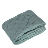 Quilted blanket , sea grey