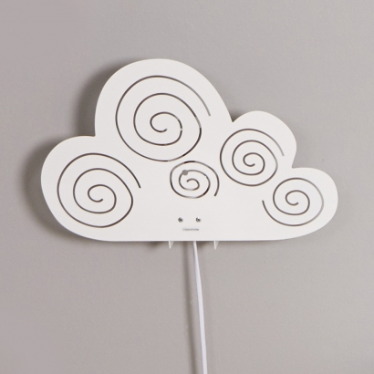 Cloud lampa, vit