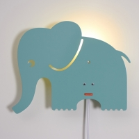 Elephant lamp Pastel Blue