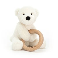 Shooshu Perry Polar Bear Wooden Ring Toy