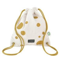 Golden dots gym bag