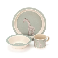 Joey Giraffe Three Piece Bamboo Set