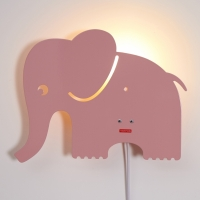 Elephant lamp Pastel Rose