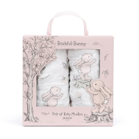 Bashful Pink Bunny Pair Of Muslins