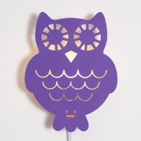 Owl Lamp Purple
