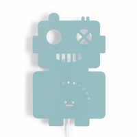 Robot Lamp Pastel Blue