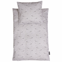 Kite bedset, junior grey/black